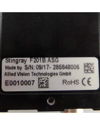Allied Vision Kamera Stingray F201B ASG GEB