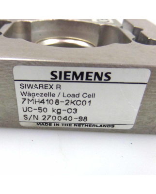 Siemens Siwarex R Wägezelle 7MH4108-2KC01 Nennlast:50kg GEB