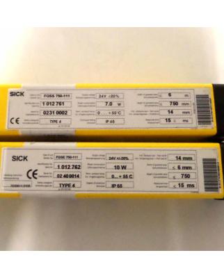 Sick Lichtvorhang 14-FGS Sender FGSS750-111 + Empfänger FGSE750-111 GEB