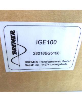 Bremer Transformatoren GmbH 3-ph-Generalstrom-Istwerterfassung IGE 100 OVP