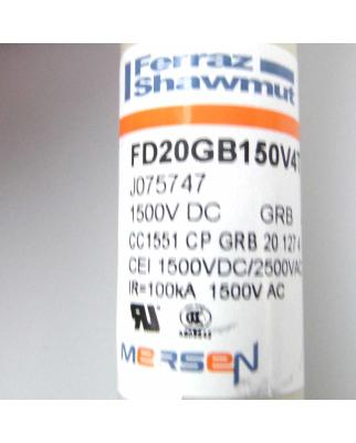 Ferraz-Shawmut/Mersen Sicherung FD20GB150V4T 1500VDC 4A (7Stk.) OVP
