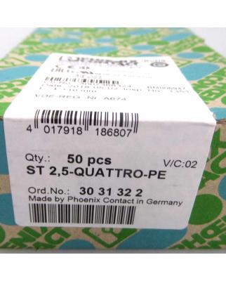 Phoenix Contact Schutzleiter-Reihenklemme ST 2,5-QUATTRO-PE 3031322 (50Stk.) SIE