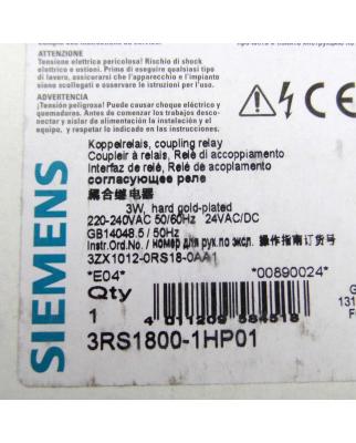 Siemens Koppelrelais 3RS1800-1HP01 OVP