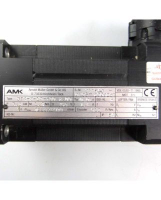 AMK Servomotor DT4-2-10-F00 2.00 0,6kW GEB