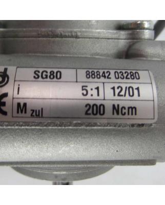 Dunkermotoren DC-Motor BG62X30 + SG80 i=5:1 #K2 GEB