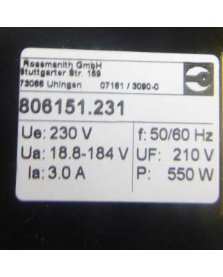 Rossmanith DC-Stromrichter Rothy 806X5 806151.231 230V GEB
