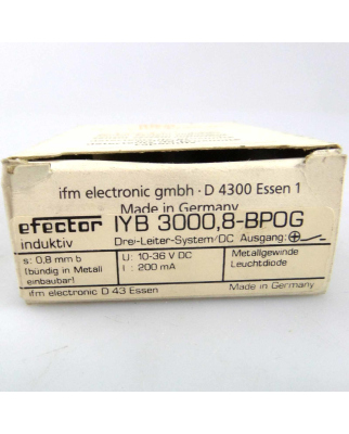 ifm efector induktiver Sensor IYB 3000,8-BPOG OVP