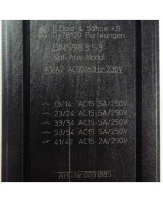 E.Dold & Söhne KG Not-Aus-Modul BN5983.53 0031885 GEB