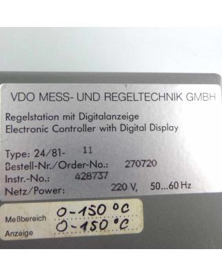 VDO Regelstation 24/81-11 270720 220V 0-150°C GEB