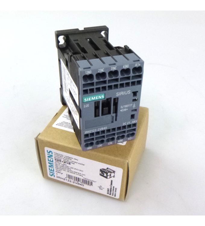 Siemens Hilfsschütz 3RH2122-2VB40 21-44V OVP