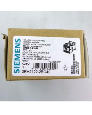 Siemens Hilfsschütz 3RH2122-2BG40 125V OVP