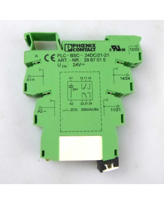 Phoenix Contact Relaissockel PLC-BSC-24DC/21-21 2967015 + Relais 2961215 (5Stk.) GEB
