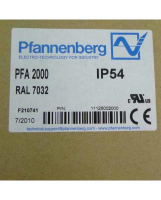 Pfannenberg Filter PFA2000 11125002000 OVP