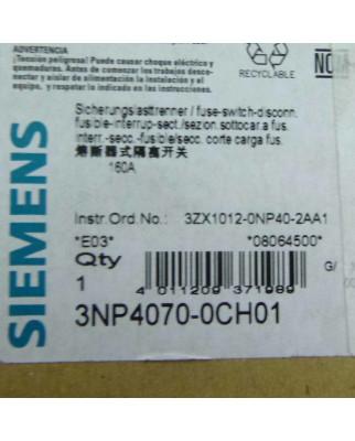 Siemens Lasttrennschalter 3NP4070-0CH01 OVP