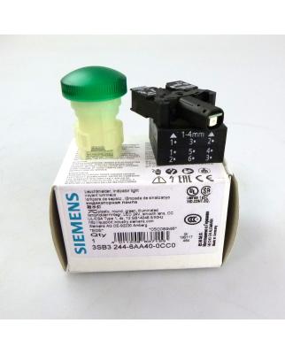 Siemens Leuchtmelder grün 3SB3 244-6AA40-0CC0 OVP