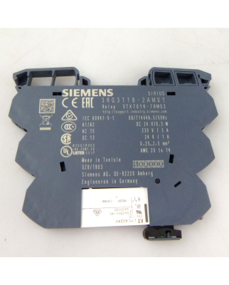 Siemens Ausgangskoppler 3RQ3118-2AM01 + Relais LYCA024V NOV