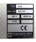 Gebrüder Heyl Hydraulischer Pilotverteiler PVH 230V OVP