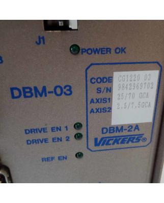 Vickers Servo-Drive DBM-03 DBM-2A CG122003 #K2 GEB