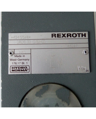 Rexroth Hydronorma Druckbegrenzungsventil DBDS 20 G15/400 NOV