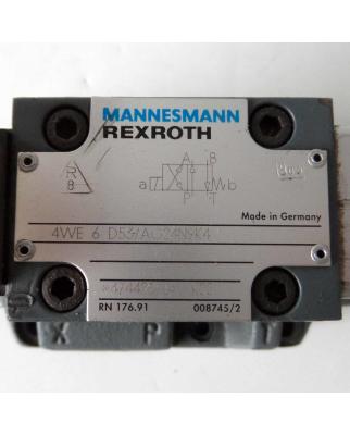 MANNESMANN REXROTH Steuerblock 4WEH 16 D61/6AG24N9EK4 + 4WE 6 D53/AG24N9K4 GEB
