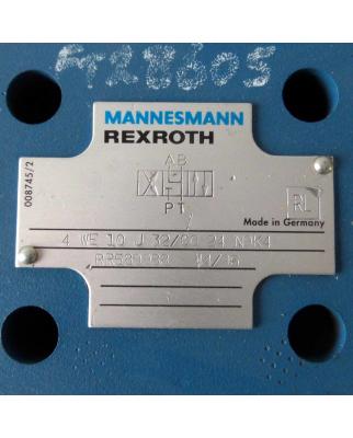 Rexroth Mannesmann Druckreduzierventil 4-WE-10-J 32/CG24N9K4 GEB