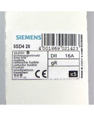 Siemens SILIZED Sicherungseinsatz 5SD420 16A (5 Stk.) OVP