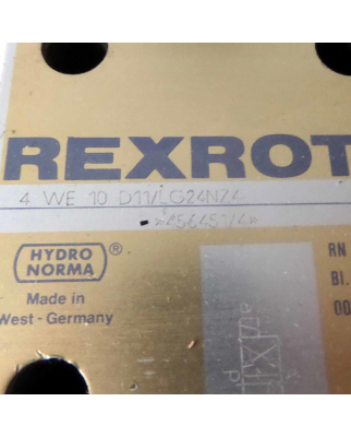 Rexroth Hydronorma Hydraulikventil 4 WE 10 D11/LG24NZ4 GEB