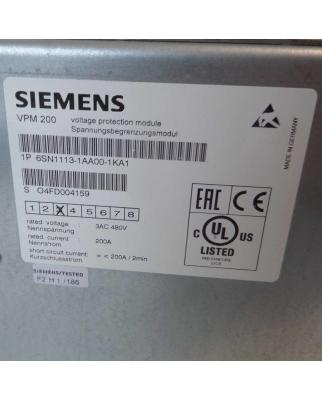 Siemens Spannungsbegrenzungsmodul 6SN1113-1AA00-1KA1 E-Stand:03 OVP