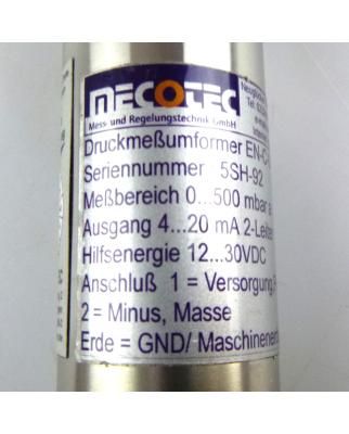 Mecotec Druckmeßumformer EN-C-0/500 A 0...500 mbar a GEB
