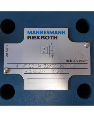 Rexroth Mannesmann Druckreduzierventil 4 WE 10 HA 32/CG24N9K4 GEB