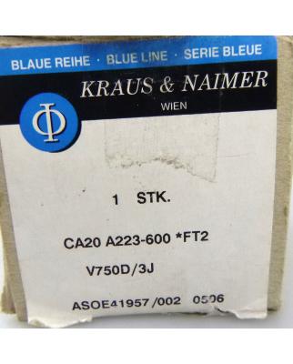 Kraus&Naimer Steuerschalter CA20 A223-600 *FT2 OVP