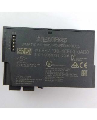Simatic S7 DP Powermodul 6ES7138-4CF03-0AB0 #K2 GEB
