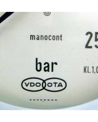 VDO OTA Manocont, Manometer 0-250 bar Ø ca. 95mm NOV
