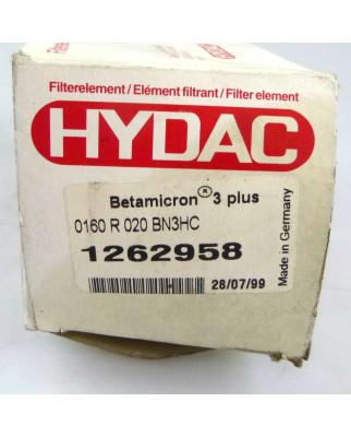 Hydac Filterelememt Betamicron 3plus 1262958 0160R020BN3HC OVP