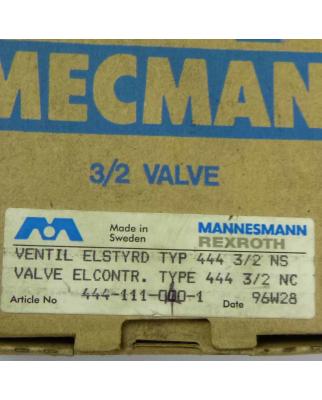 Mecman / Mannesmann Rexroth Ventil 444-111-000-1 230V OVP