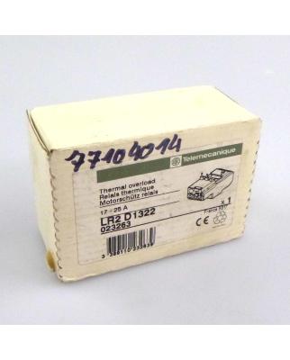 Telemecanique Motorschutz-Relais LR2D1322 023263 OVP