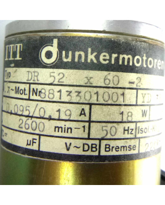 Dunkermotoren AC-Motor DR 52x60-2 GEB