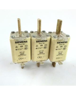 Siemens Sitor Sicherungseinsatz 3NA3 144 250A (3Stk.) GEB