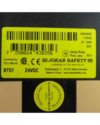 Jokab Safety Sicherheitsrelais BT51 24VDC OVP