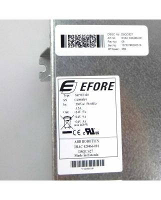 ABB / EFORE Power Supply DSQC627 3HAC020466-001 SR92E120...