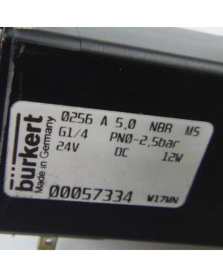 bürkert 2/2-Wege Hubankerventil 0256 A 5,0 NBR MS...