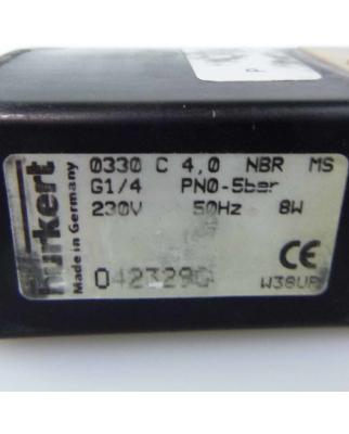 bürkert 3/2-Wege-Magnetventil 0330 C 4,0 NBR MS...