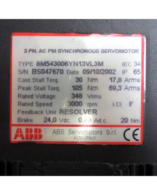 ABB Servomotor 8M543006YN13VL3M GEB
