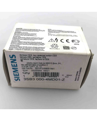 Siemens Schloss CES 3SB3000-4MD01-Z  OVP