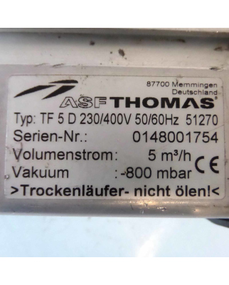 AFS Thomas Membranpumpe TF 5 D 230 51270 GEB