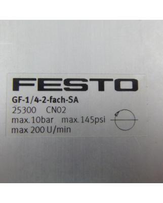Festo Drehverteiler GF-1/4-2-fach-SA 25300 OVP