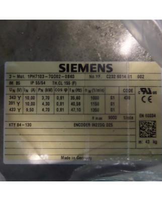Siemens Kompakt-Asynchronmotor 1PH7103-7QD02-0BK0 OVP