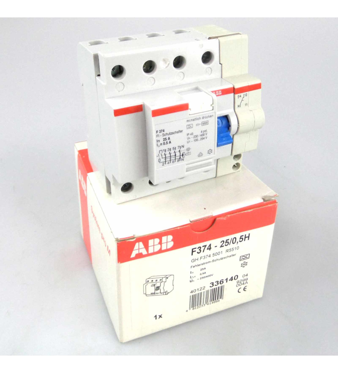 ABB FI Fehlerstrom-Schutzschalter F374-25/0,5H OVP