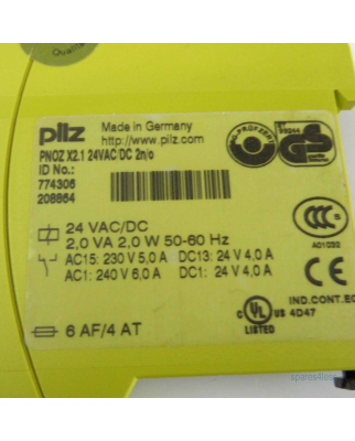 Pilz Not-Aus-Schaltgerät PNOZ X2.1 24VAC/DC 2n/o 774306 GEB