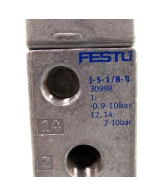 Festo 5/2-Wegeventil J-5-1/8-B 30988 GEB